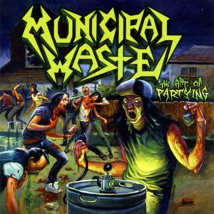 "Municipal Waste - The Art Of Partying 4x4"" Color Patch"