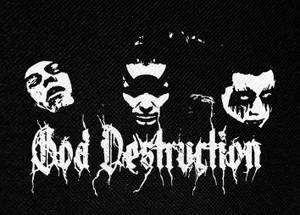 """God Drestruction Logo 5x3"""" Printed Patch"""