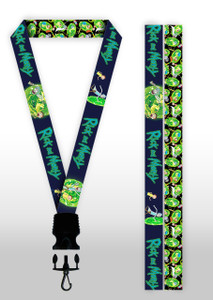 Rick and Morty - Portal Collage Lanyard