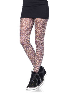 Leopard Nylon Tights