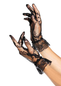 Lace Gloves with Ruffles