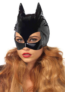 Black Vinyl Cat Mask