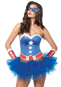 Captain America Womens Costume Kit