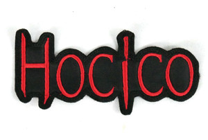 """Hocico Red Logo 4.5x2"""" Embroidered Patch"""