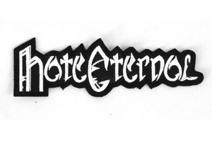 """Hate Eternal White Logo 5x1.5"""" Embroidered Patch"""