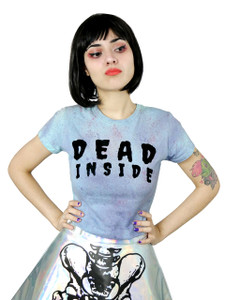 Dead Inside Girls T-Shirt with Blood Splatter Dye
