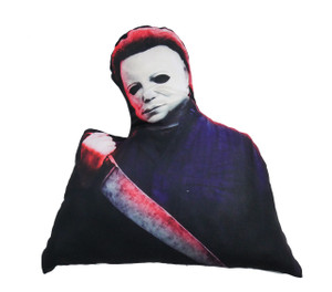 Michael Myers with Knife Shaped Throw Pillow