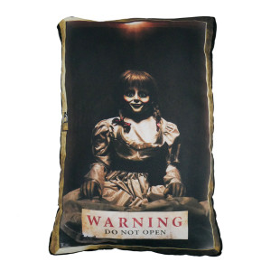 Go Rocker - Annabelle Warning Throw Pillow