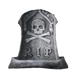 Go Rocker - R.I.P. Tombstone Throw Pillow