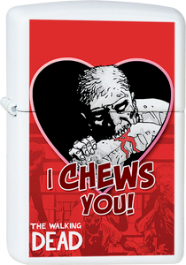 I Chews You Valentine's Day White Lighter