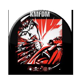 "KMFDM - Symbols 1.5"" Pin"