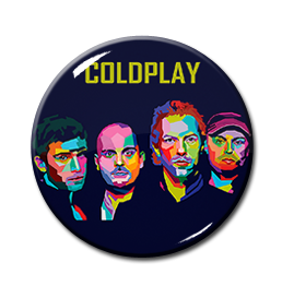 "Coldplay Band 1.5"" Pin"