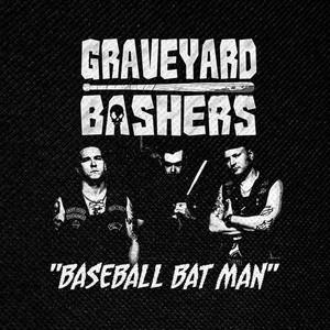 "Graveyard Bashers Baseball Bat Man 4x4"" Printed Patch"
