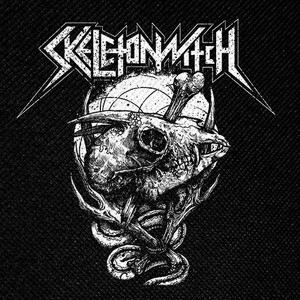 "Skeletonwitch Goat Skull 4x4"" Printed Patch"