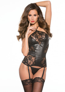 Lace Pattern with Vinyl Corset