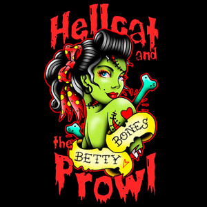 """Hellcat And The Prowl - Betty Bones 4x4"""" Color Patch"""