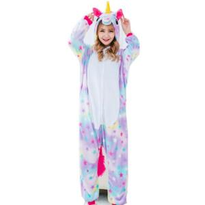 Adult Size Colorful Unicorn with Stars Kigurumi Onesie