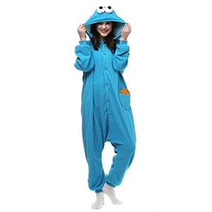 Adult Size Cookie Monster Kigurumi Onesie