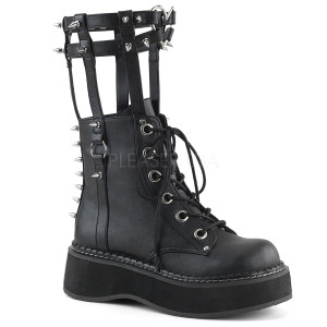 Mid-Calf High Leg Brace Boots with Spikes
