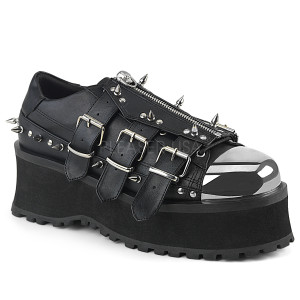 Platform Shoes with Spikes and Toe Plate