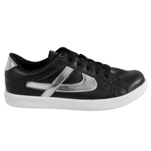 Panam - Black and Urban Silver Low Top Unisex Sneaker