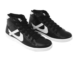 Panam - Black and Urban White Hi Top Unisex Sneaker