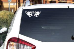 "Bauhaus Eyes Logo 7x3"" Vinyl Cut Sticker"