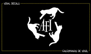 "A.F.I. Cat Logo 6x6"" Vinyl Cut Sticker"