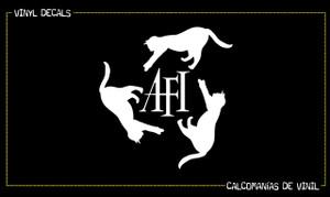 """A.F.I. Cat Logo 6x6"""" Vinyl Cut Sticker"""