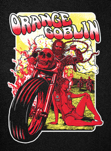 """Orange Goblin - They Work Hard They Play Hard Backpatch 12x16"""""""