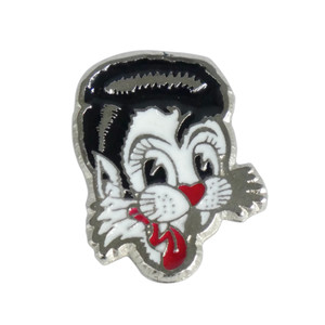 "Stray Cats Head 1.5"" Enamel Pin"