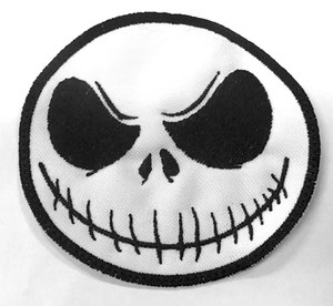 "Jack Skellington Face 3"" Embroidered Patch"