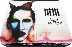 """Marilyn Manson - MM Lest We Forget 9x7"""" Mousepad"""