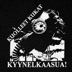 "Kuolleet Kukat Kyynelkaasua 4x4"" Printed Patch"