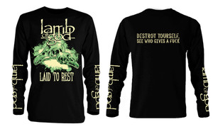 Lamb of God Laid to Rest Long Sleeve T-Shirt