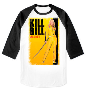 Kill Bill Men's Raglan Baseball 3/4 Sleeve T-Shirt