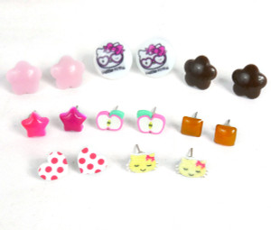 Necklaces and Accessories Lot - Hello Kitty, Heart and Shaped Earrings