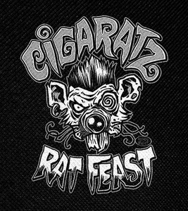 "Cigaratz Rat Feast 4x4.5"" Printed Patch"