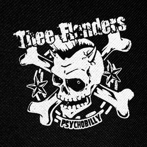 "Thee Flanders Psychobilly 4x4"" Printed Patch"