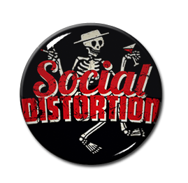 "Social Distortion Skelly 1"" Pin"