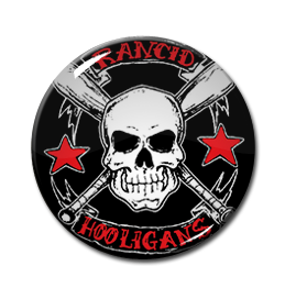 "Rancid - Hooligans 1"" Pin"