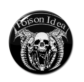 "Poison Idea - Skull 1"" Pin"