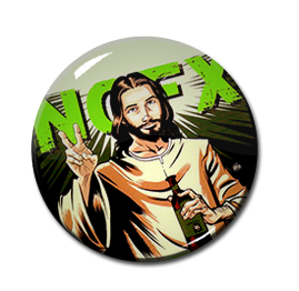 "NOFX - Never Trust A Hippy 1"" Pin"