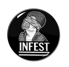 "Infest - No Mans Slave 1"" Pin"