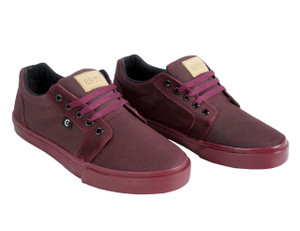 Canvas Burgundy Low Top Sneakers