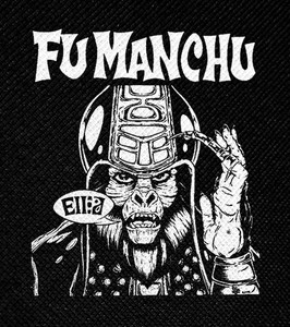 "Fu Manchu by Alan Forbes 4x4.5"" Printed Patch"