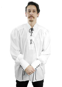 Medieval White Long Sleeve Shirt