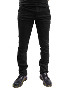 Black Skinny Chino Pants for Men