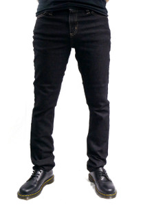 White Trim Black Denim Skinny Jeans