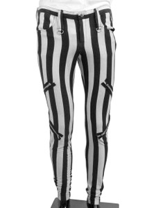 Beetlejuice Style Mens Striped Pants